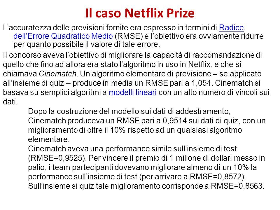 Il caso Netflix Prize
