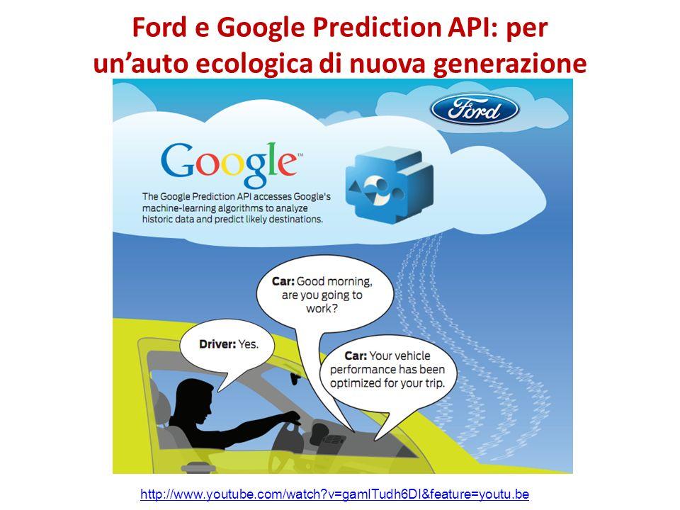 Ford e Google Prediction API: per un'auto ecologica di nuova generazione