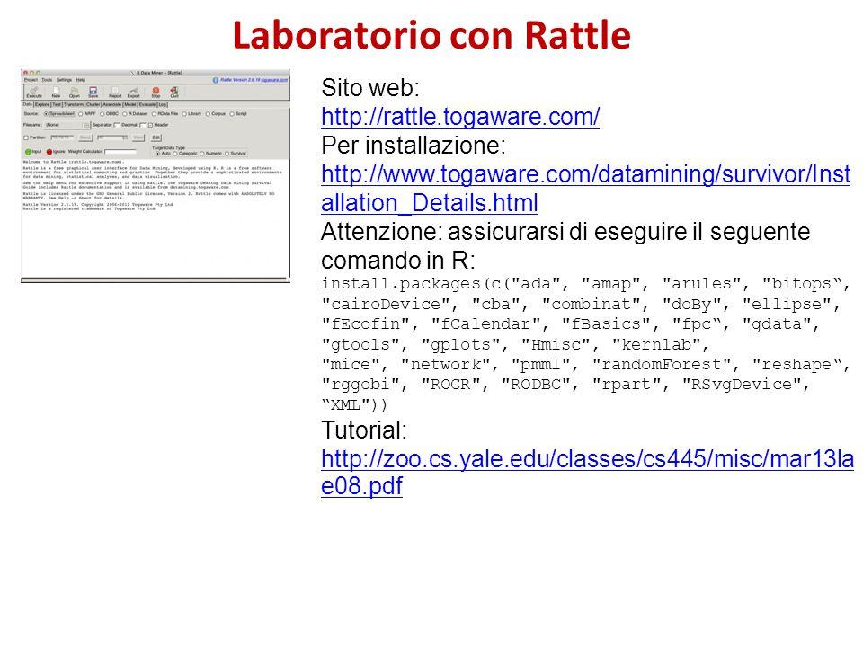 Laboratorio con Rattle
