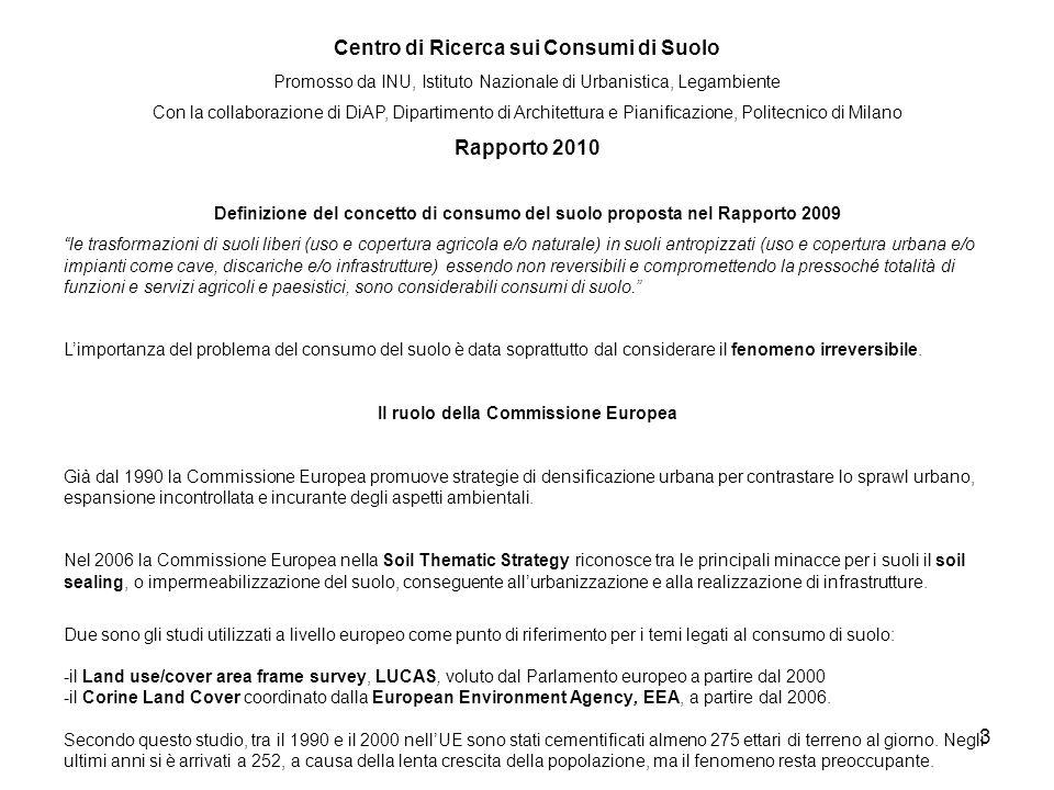 Centro di Ricerca sui Consumi di Suolo Rapporto 2010