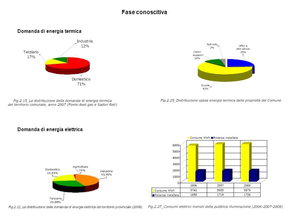 Fase conoscitiva Domanda di energia termica