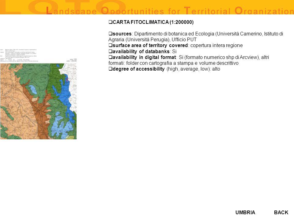 CARTA FITOCLIMATICA (1:200000)