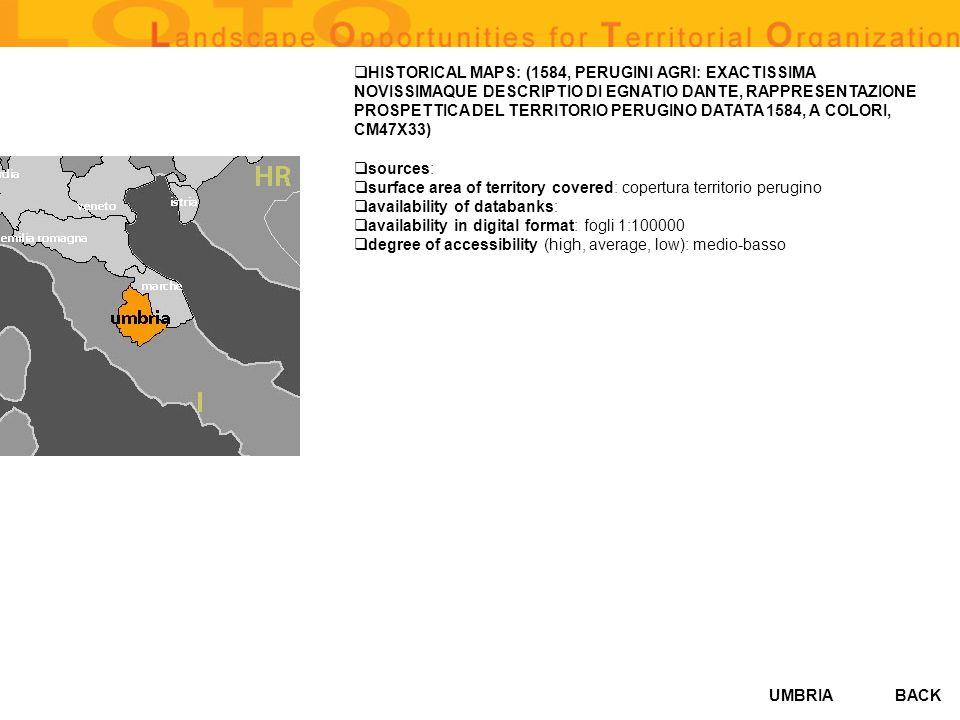 HISTORICAL MAPS: (1584, PERUGINI AGRI: EXACTISSIMA NOVISSIMAQUE DESCRIPTIO DI EGNATIO DANTE, RAPPRESENTAZIONE PROSPETTICA DEL TERRITORIO PERUGINO DATATA 1584, A COLORI, CM47X33)