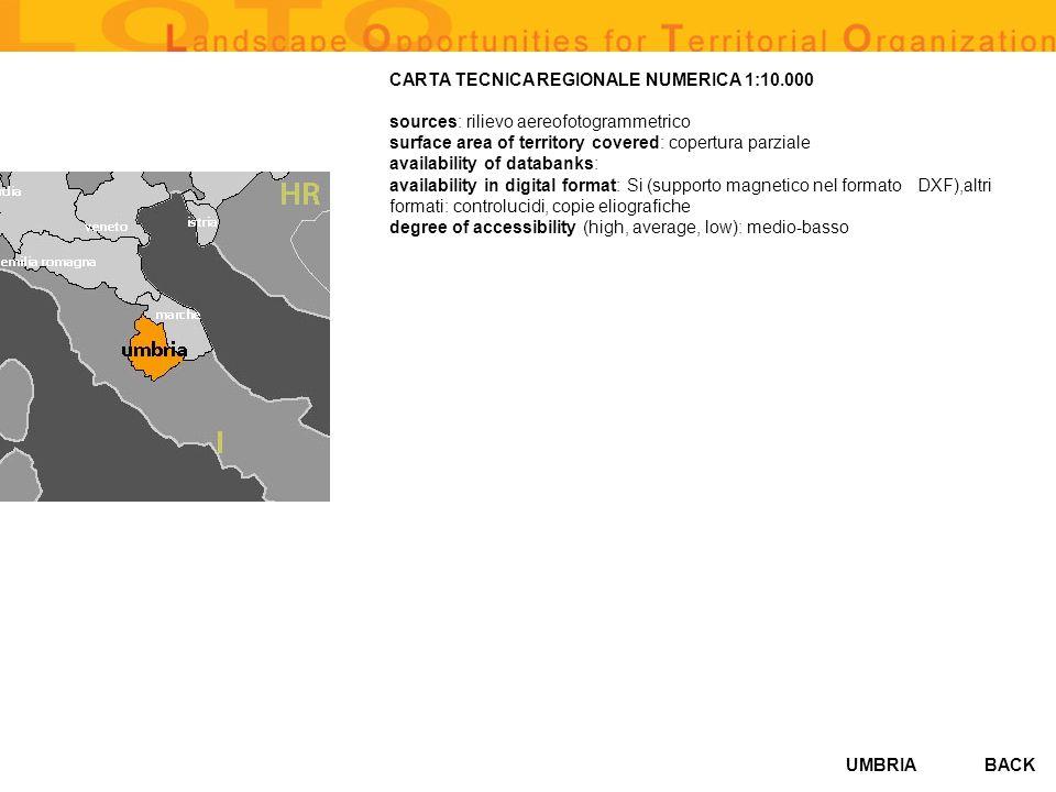 CARTA TECNICA REGIONALE NUMERICA 1:10.000