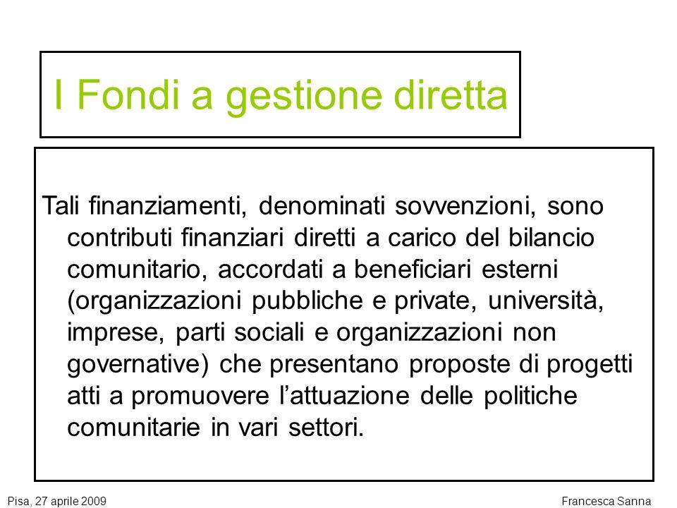 I Fondi a gestione diretta