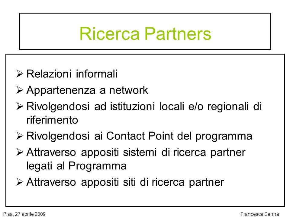 Ricerca Partners Relazioni informali Appartenenza a network