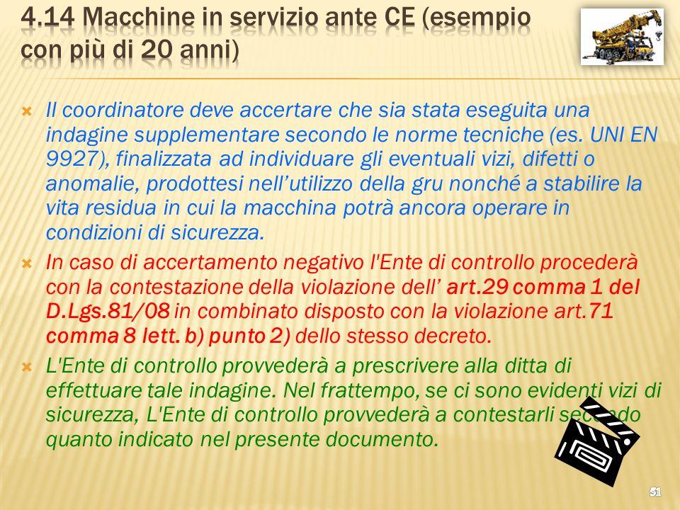 4.14 Macchine in servizio ante CE (esempio con più di 20 anni)
