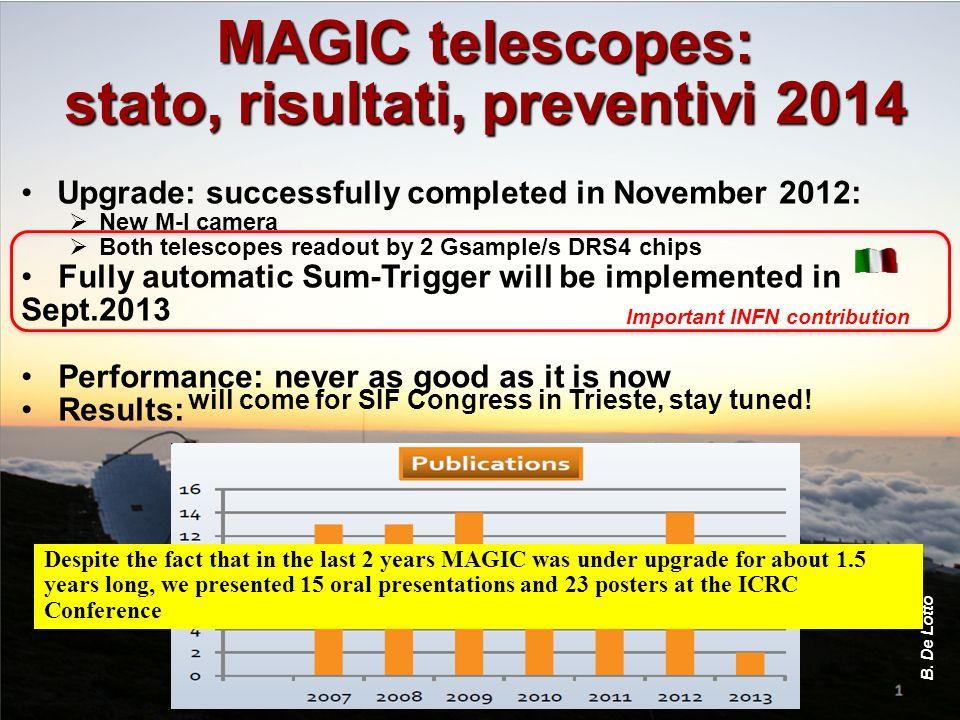 stato, risultati, preventivi 2014