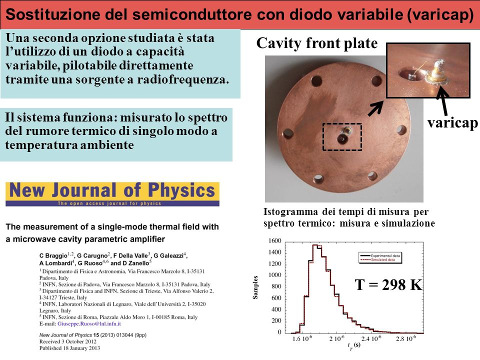 Sostituzione del semiconduttore con diodo variabile (varicap)