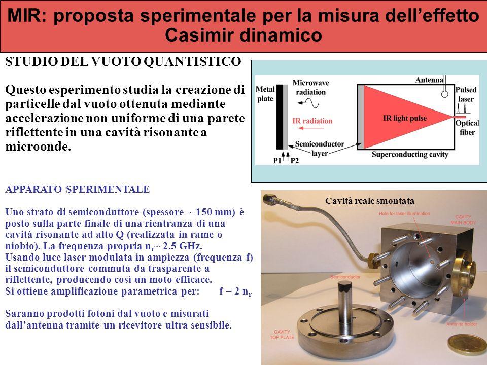 MIR: proposta sperimentale per la misura dell'effetto Casimir dinamico