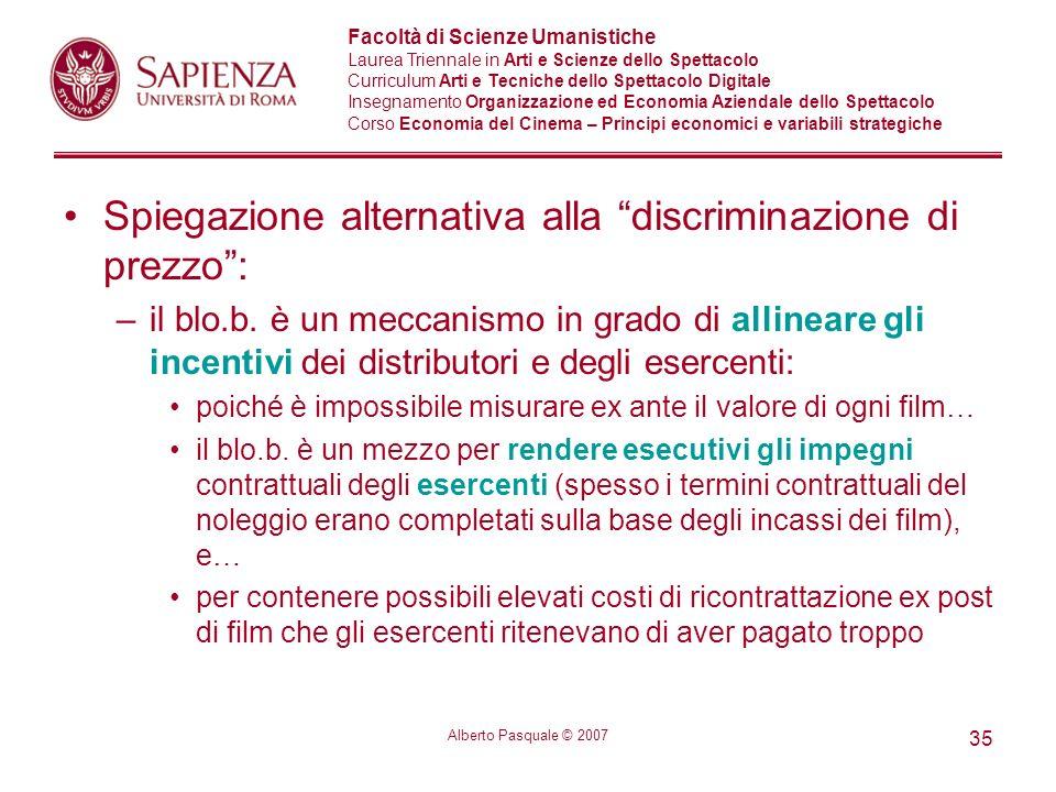Spiegazione alternativa alla discriminazione di prezzo :