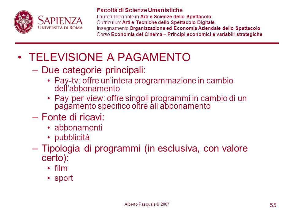 TELEVISIONE A PAGAMENTO