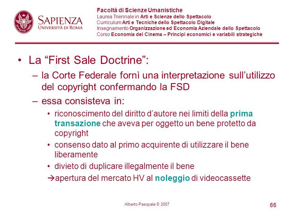 La First Sale Doctrine :