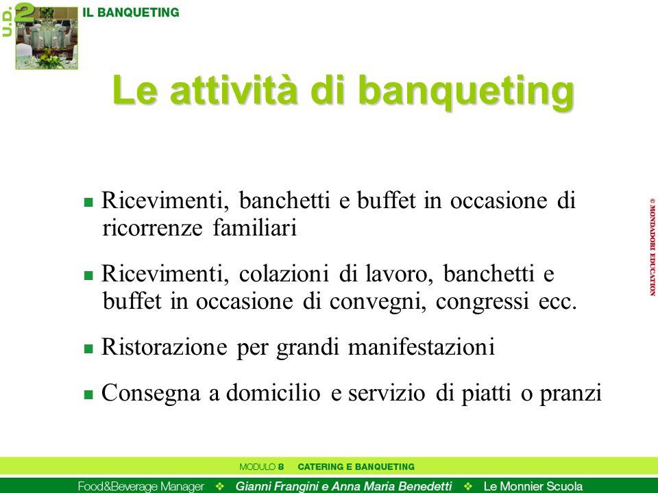 Le attività di banqueting
