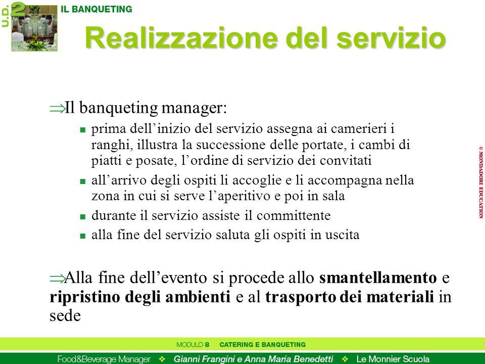 Realizzazione del servizio