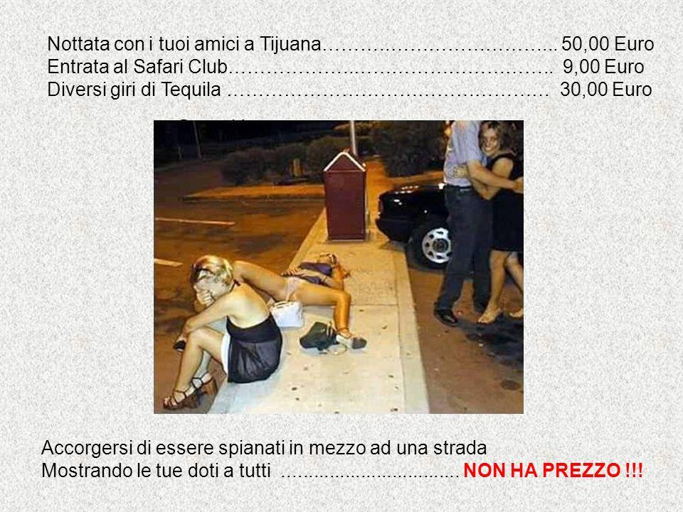 Nottata con i tuoi amici a Tijuana………..……………………... 50,00 Euro