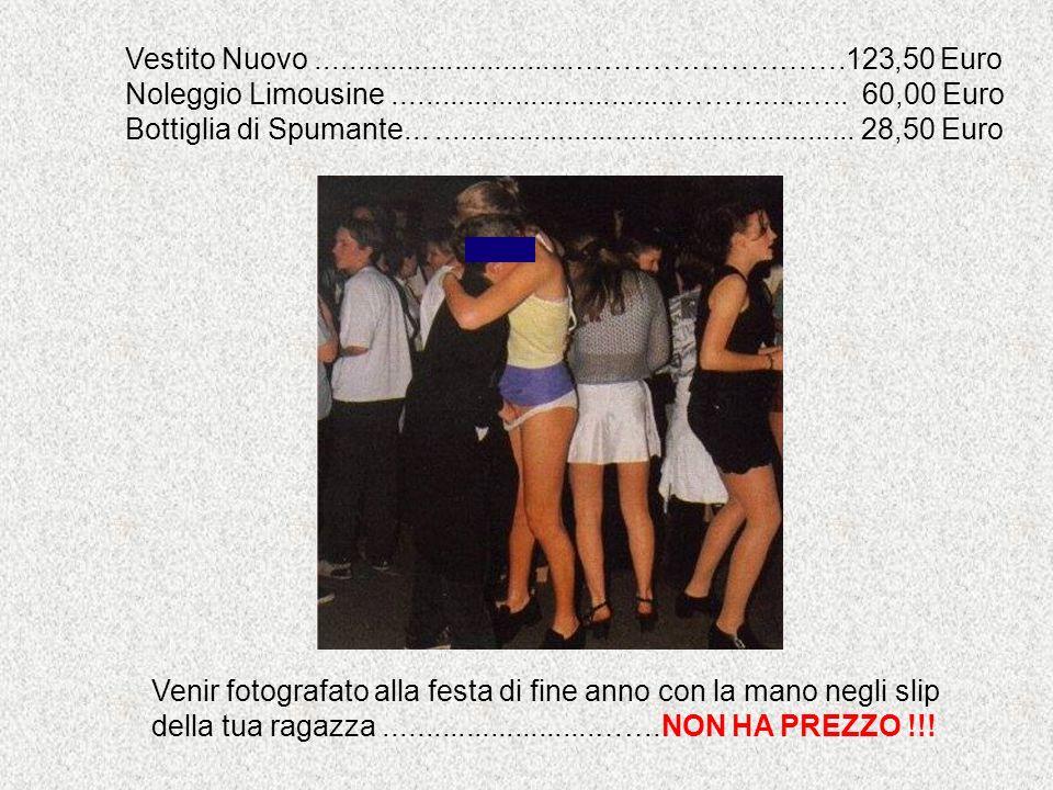 Vestito Nuovo ................................……………………….123,50 Euro