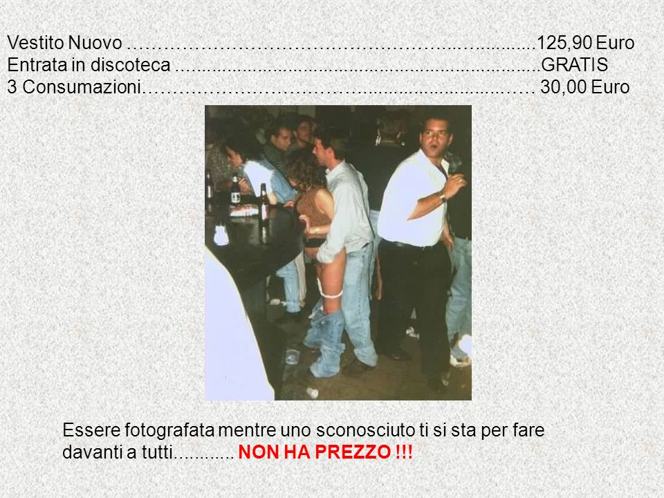 Vestito Nuovo ……………………………………………...…............125,90 Euro