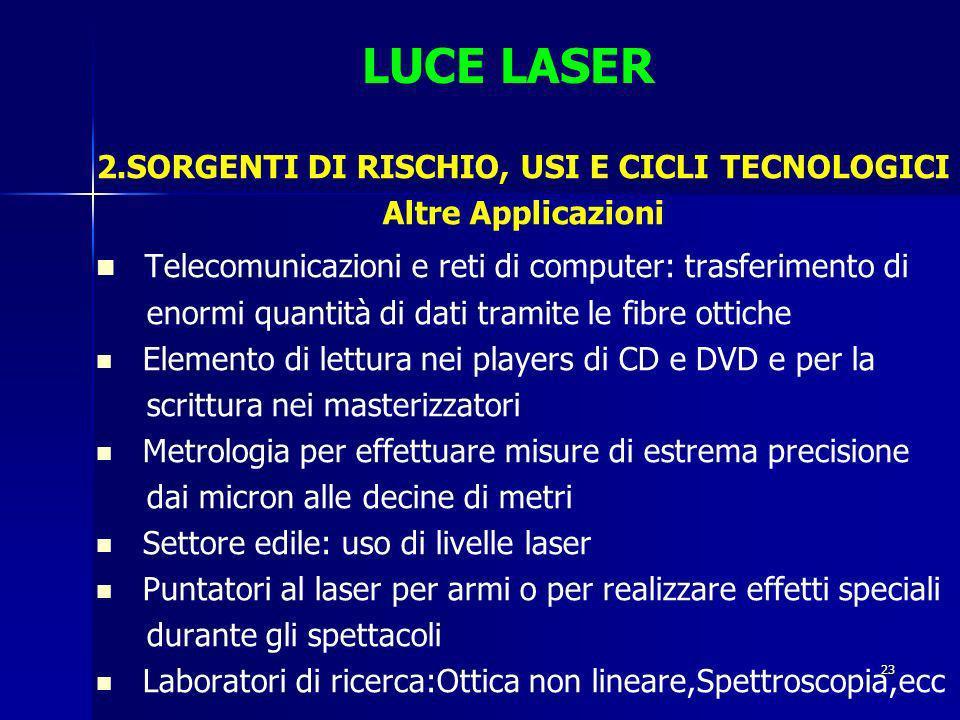 2.SORGENTI DI RISCHIO, USI E CICLI TECNOLOGICI