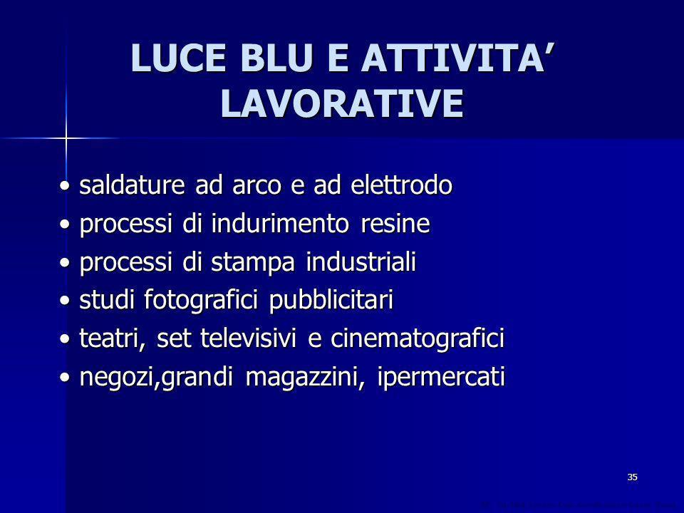 LUCE BLU E ATTIVITA' LAVORATIVE