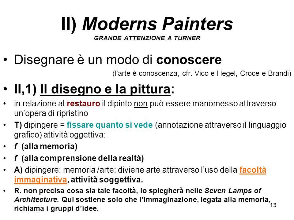 II) Moderns Painters GRANDE ATTENZIONE A TURNER