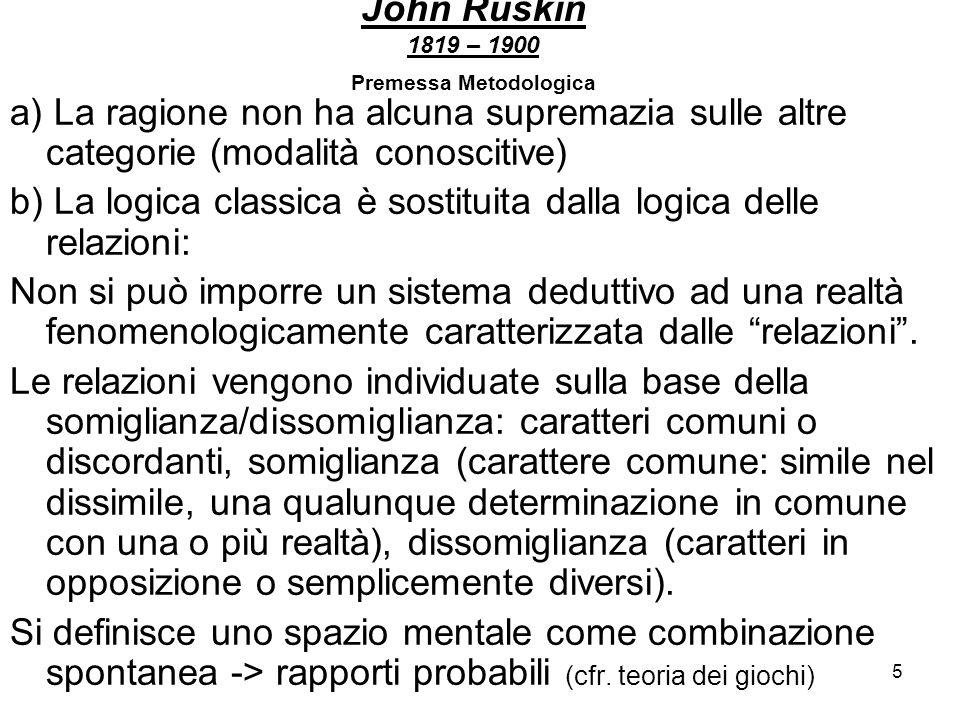 John Ruskin 1819 – 1900 Premessa Metodologica