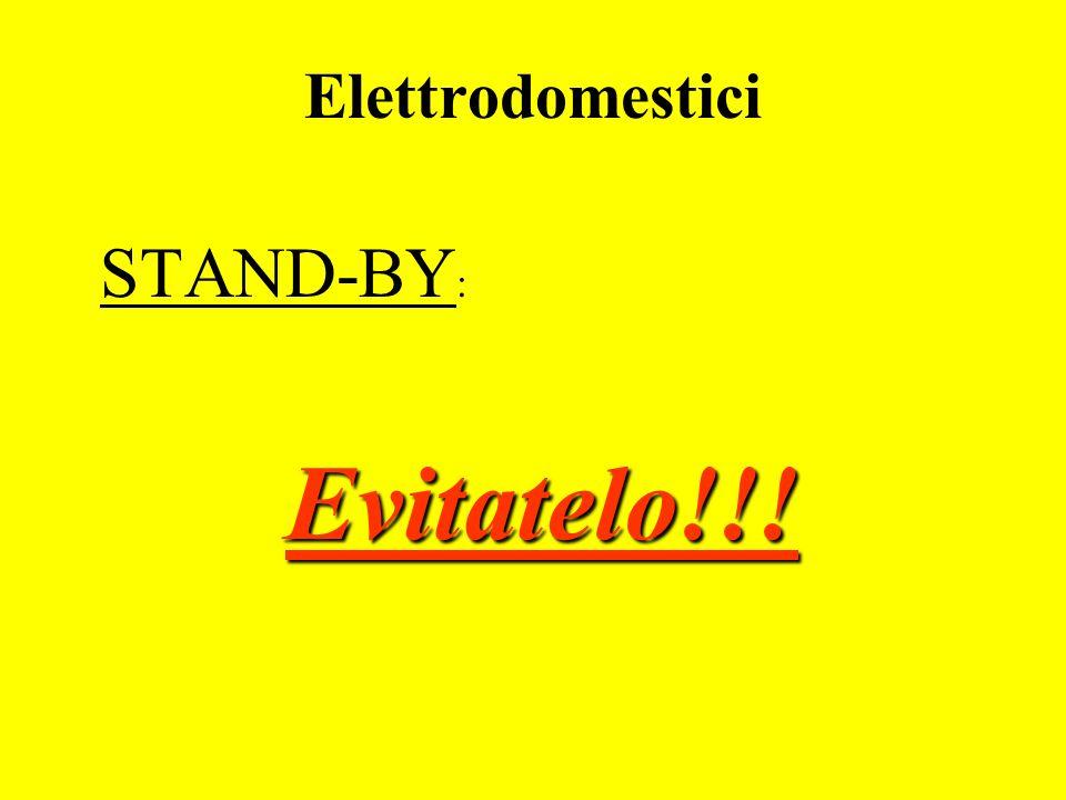 Elettrodomestici STAND-BY: Evitatelo!!!