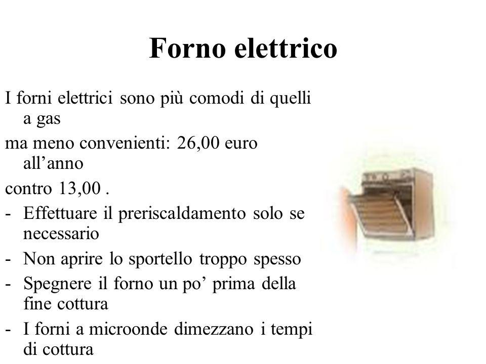 Forno elettrico I forni elettrici sono più comodi di quelli a gas