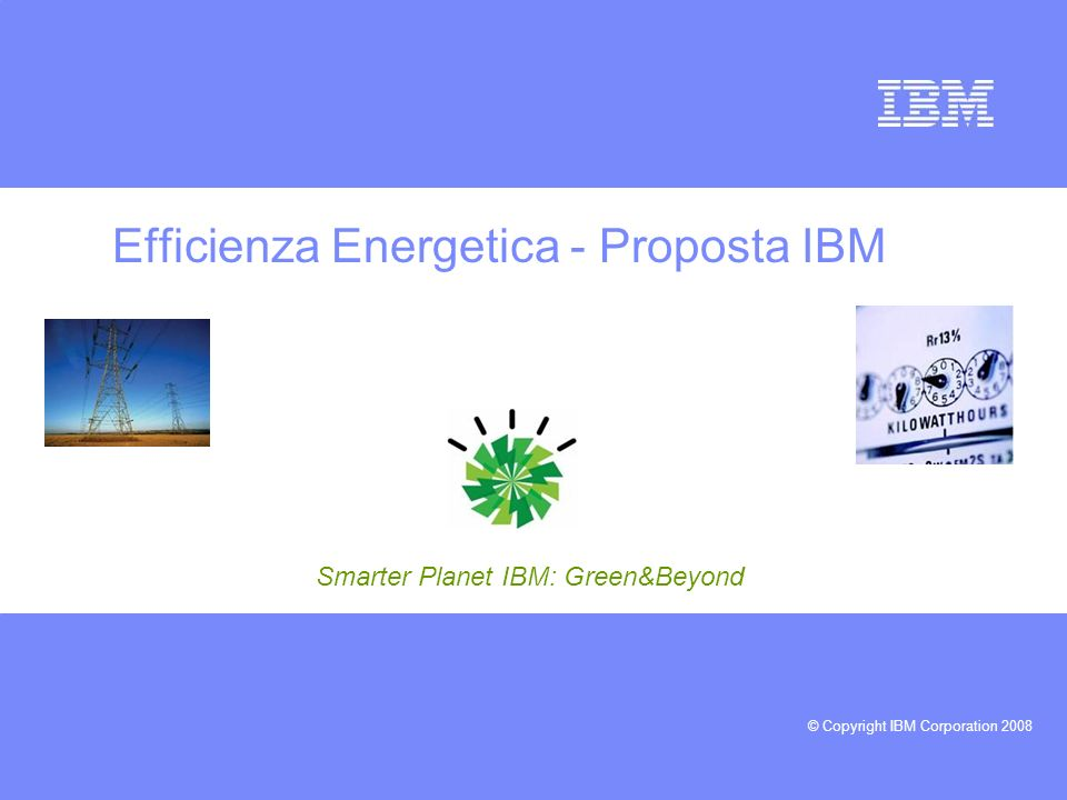 Efficienza Energetica - Proposta IBM