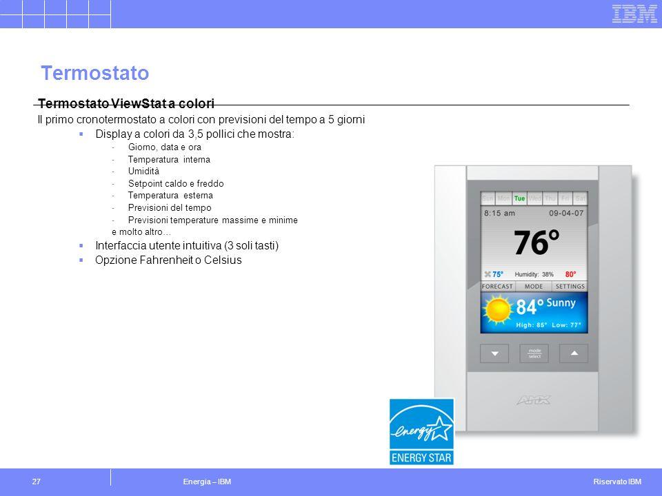 Termostato Termostato ViewStat a colori 27
