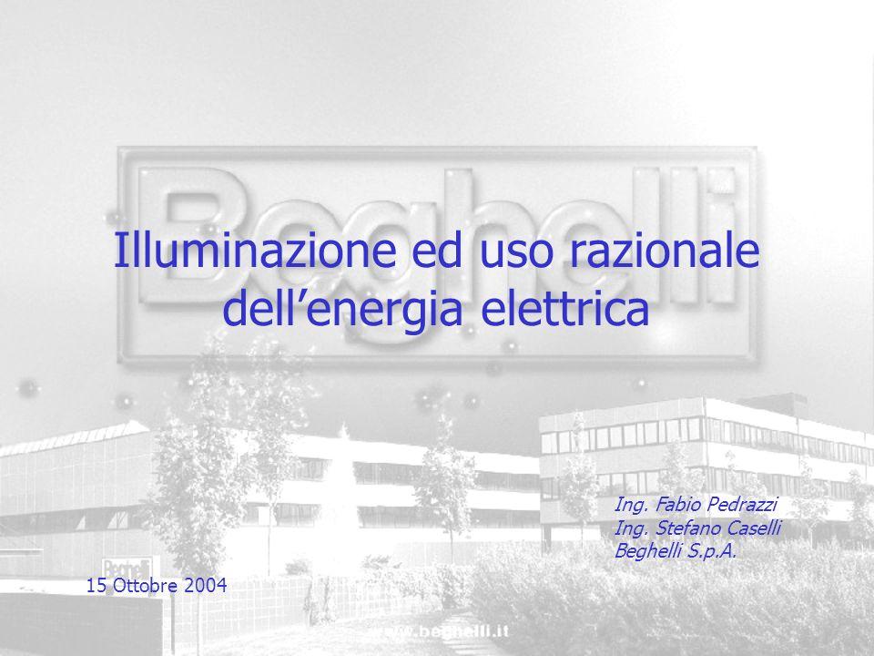 Illuminazione ed uso razionale dell'energia elettrica