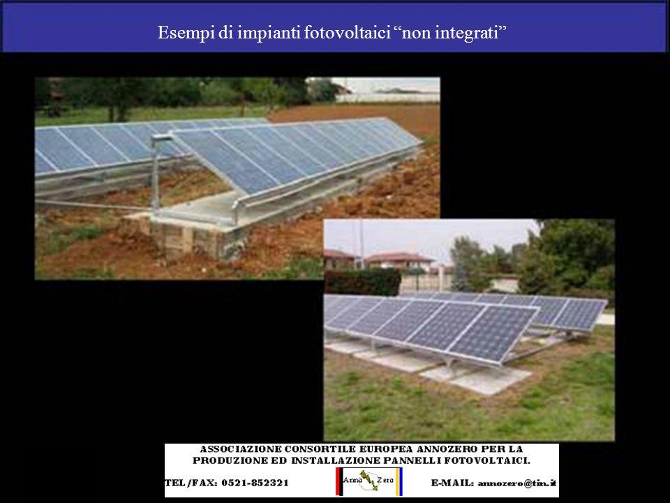 Esempi di impianti fotovoltaici non integrati