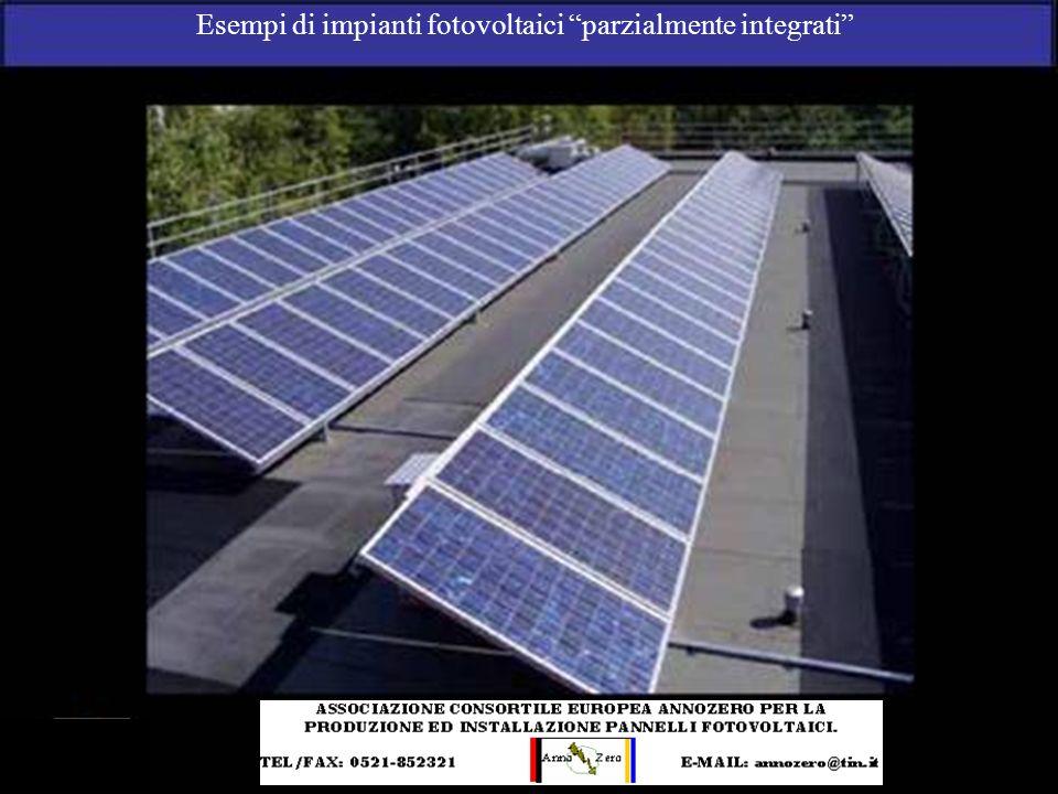 Esempi di impianti fotovoltaici parzialmente integrati