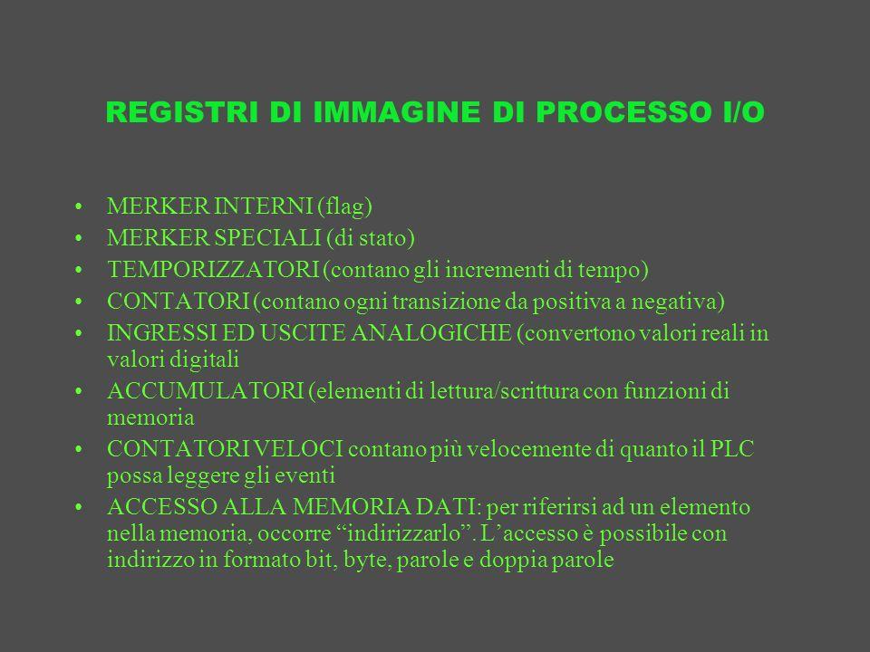 REGISTRI DI IMMAGINE DI PROCESSO I/O