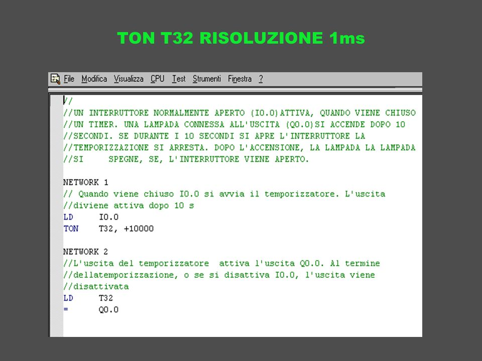TON T32 RISOLUZIONE 1ms