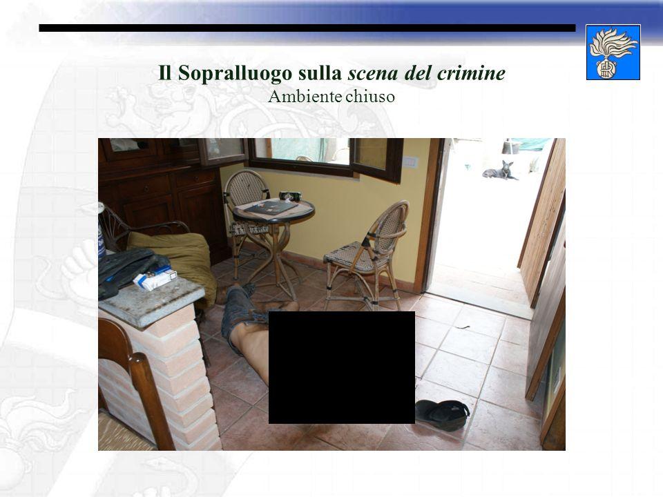 Il Sopralluogo sulla scena del crimine Ambiente chiuso