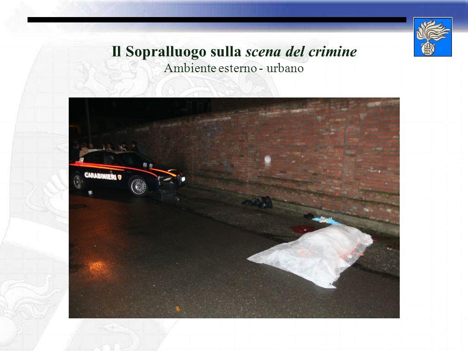 Il Sopralluogo sulla scena del crimine Ambiente esterno - urbano