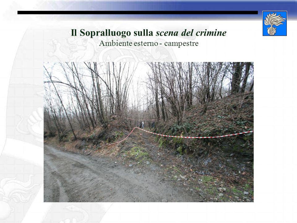Il Sopralluogo sulla scena del crimine Ambiente esterno - campestre