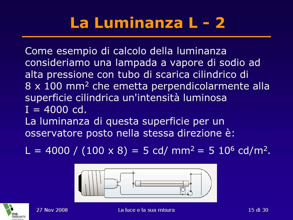 La Luminanza L - 2