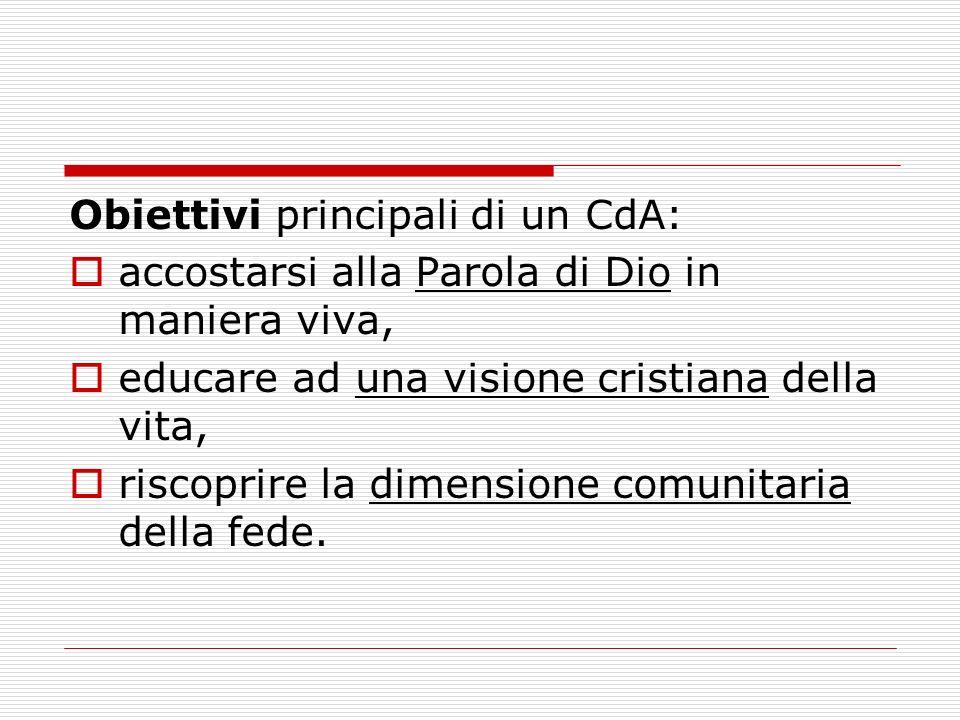 Obiettivi principali di un CdA: