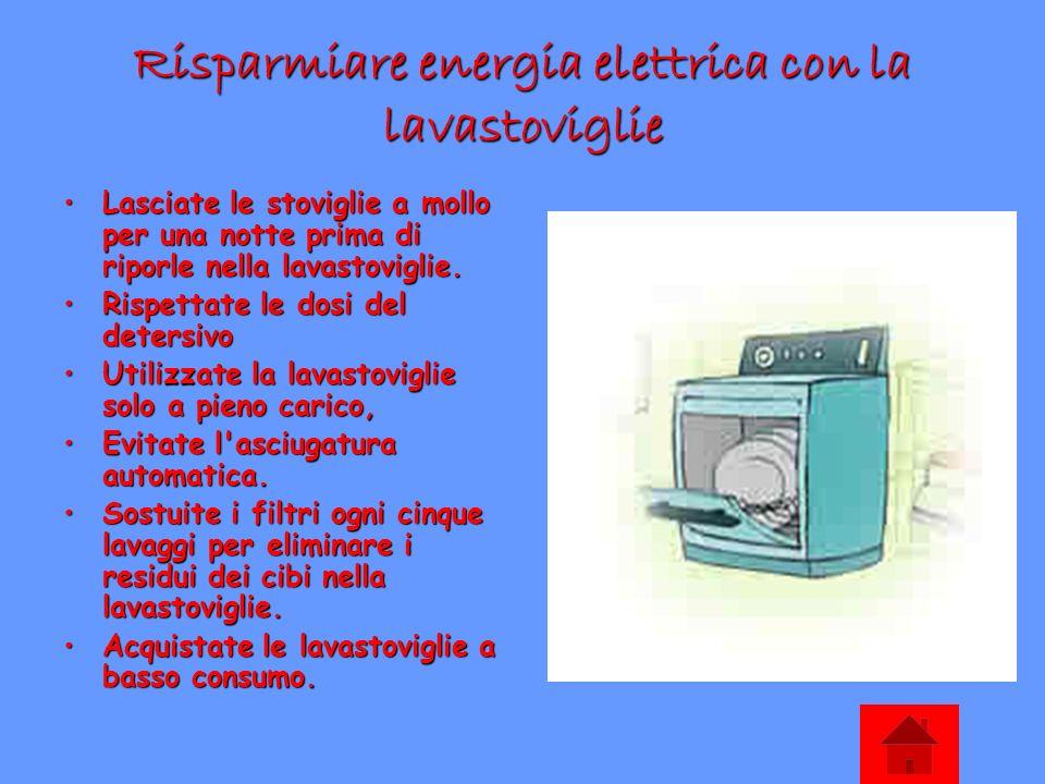 Risparmiare energia elettrica con la lavastoviglie