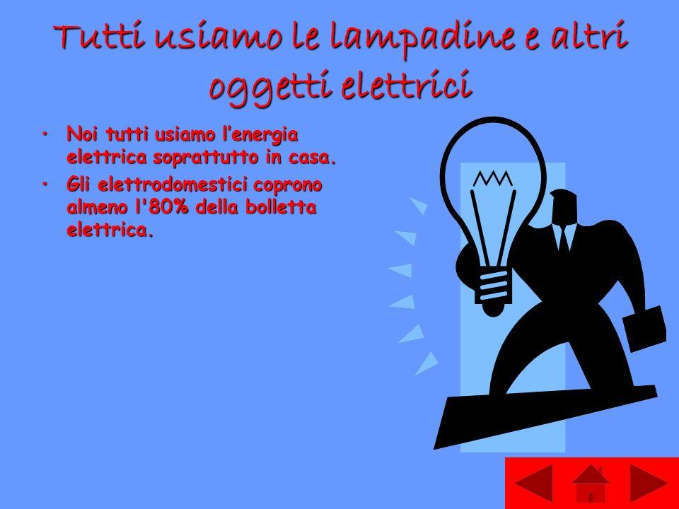 Tutti usiamo le lampadine e altri oggetti elettrici
