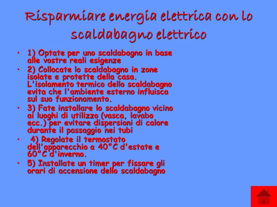 Come risparmiare l energia in casa ppt scaricare - Come funziona lo scaldabagno elettrico ...