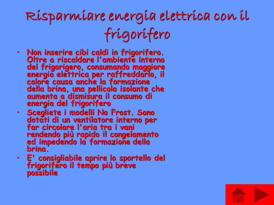 Risparmiare energia elettrica con il frigorifero