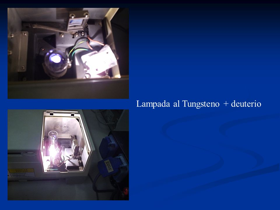 Lampada al Tungsteno + deuterio