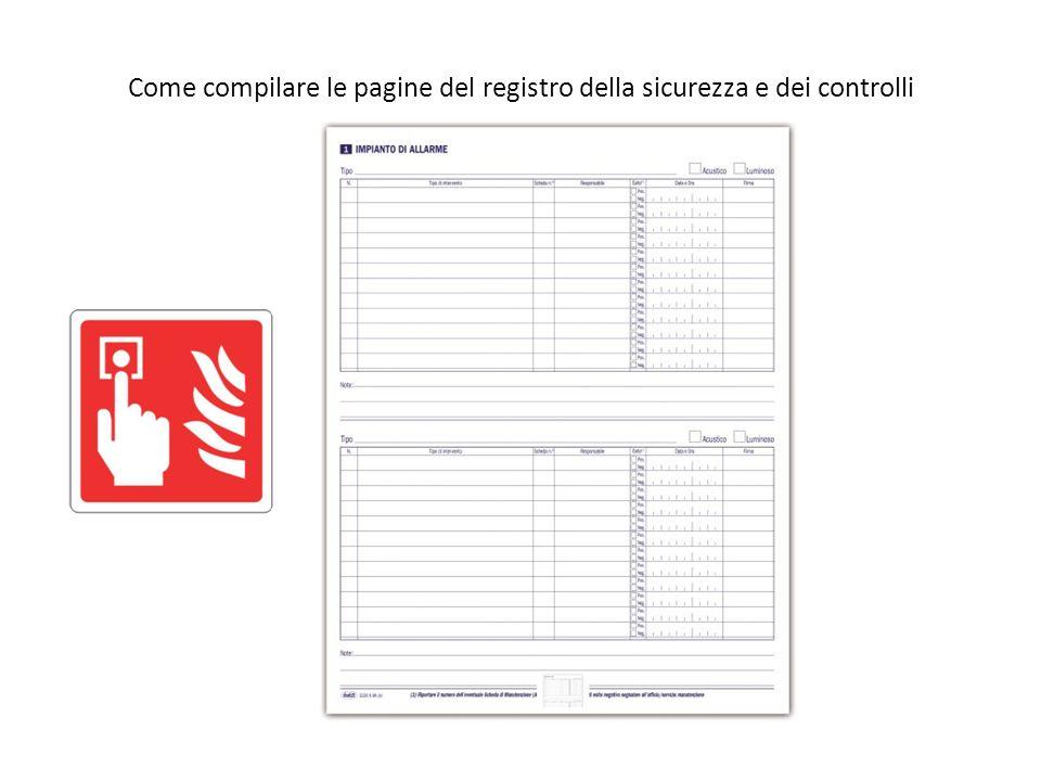 Come compilare le pagine del registro della sicurezza e dei controlli