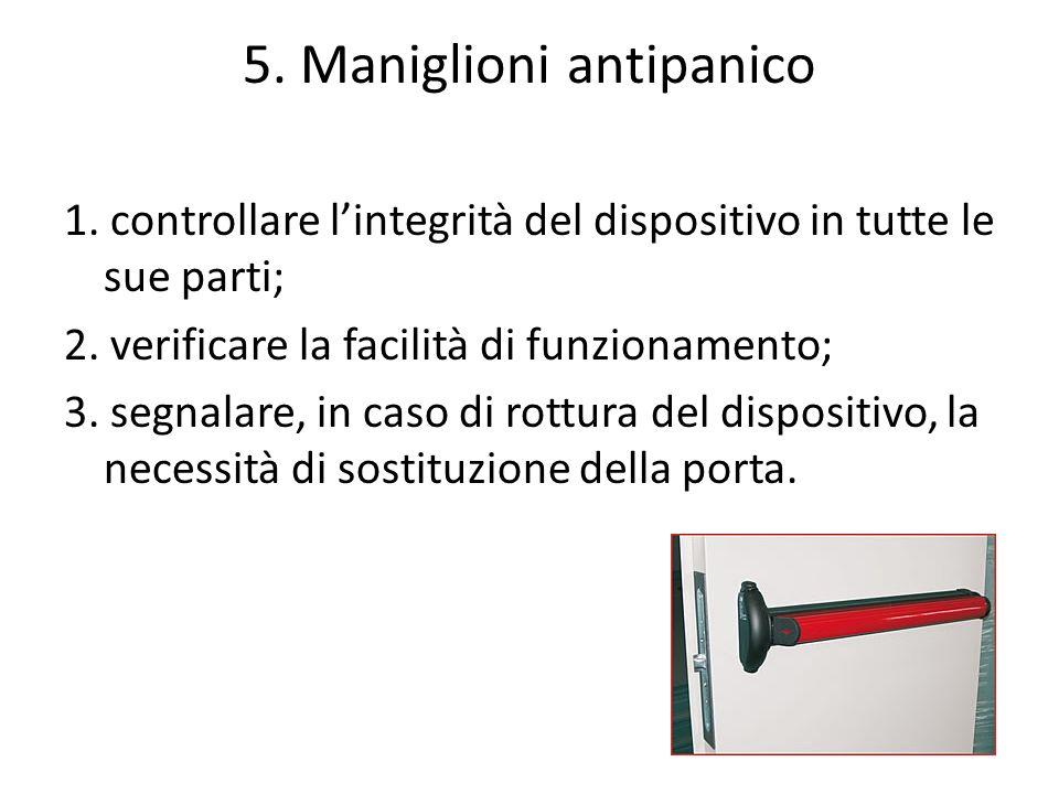 5. Maniglioni antipanico
