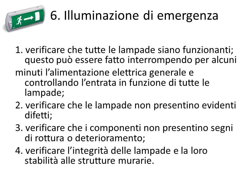 6. Illuminazione di emergenza
