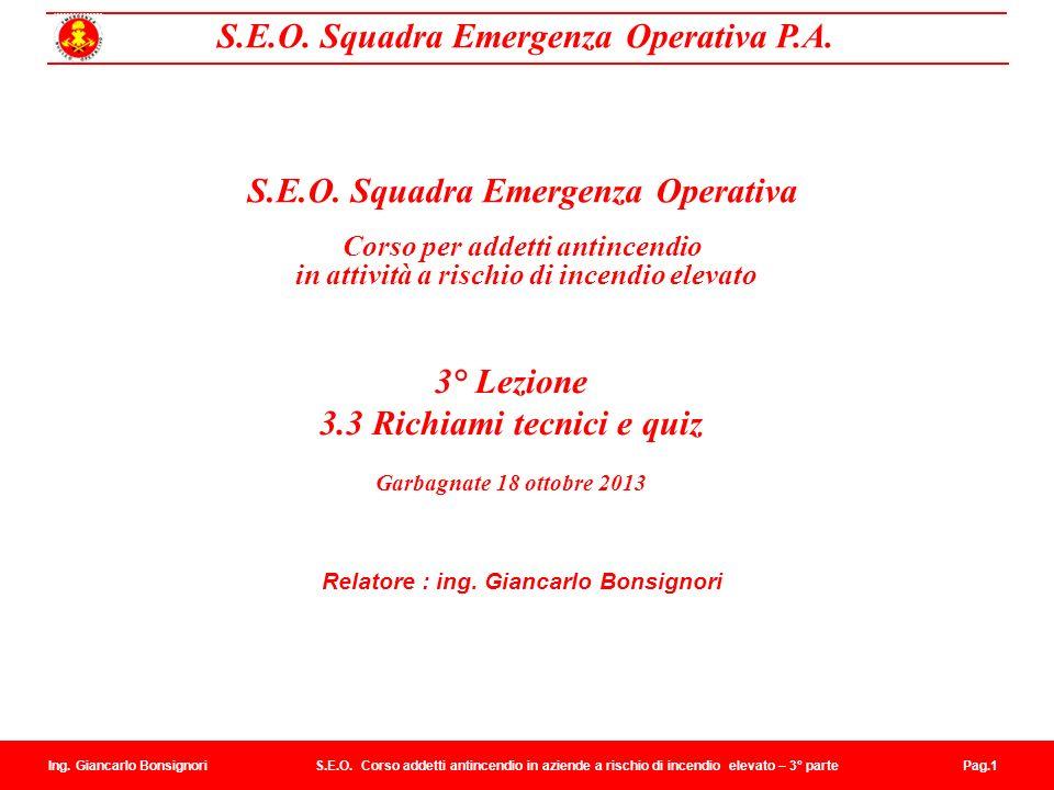 S.E.O. Squadra Emergenza Operativa