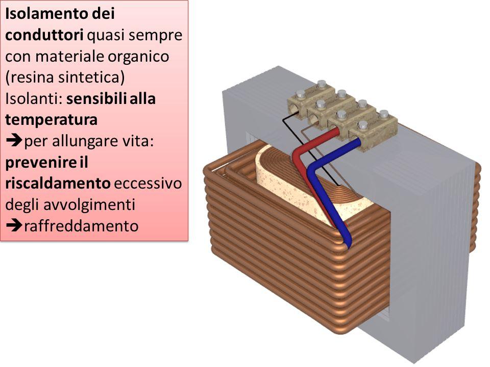 Isolamento dei conduttori quasi sempre con materiale organico (resina sintetica)